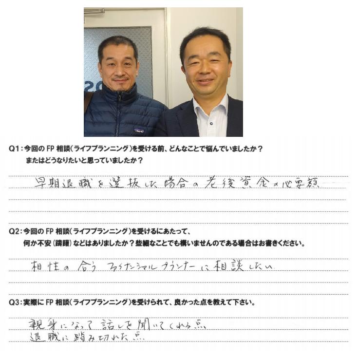 大阪市在住 50代 男性 大手百貨店 早期退職